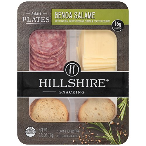 Hillshire Snacking Small Plates, Genoa Salame and White Cheddar Cheese, 2.76 oz. (12 count)