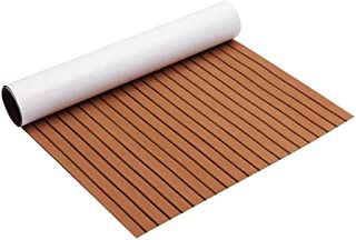 DB Decorative Materials, Boat Flooring Decking Sheet Pad 240cmx120cm Upgrade Brown EVA Foam 6mm Thickness Faux Teak