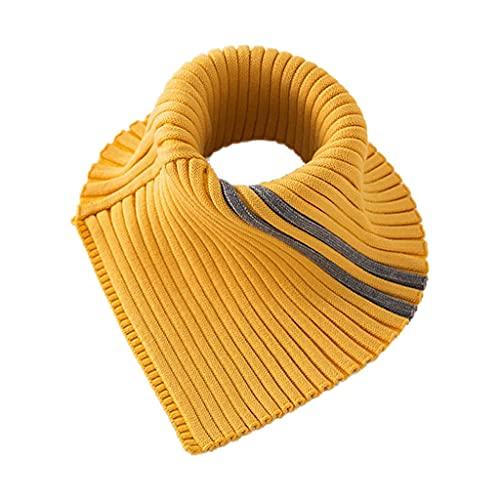 ECSWP KAIDANLE Invierno Cuello Alto Cuello Falso Tejido a Rayas Bufanda Desmontable Estiramiento del Cuello Calentador (Color : D)