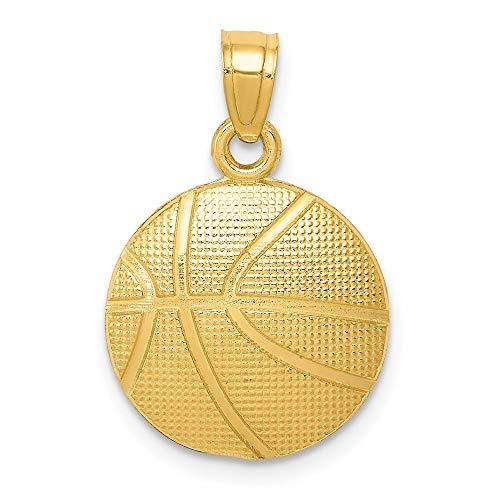 IceCarats Designer Schmuck 14K Basketball-Anhänger