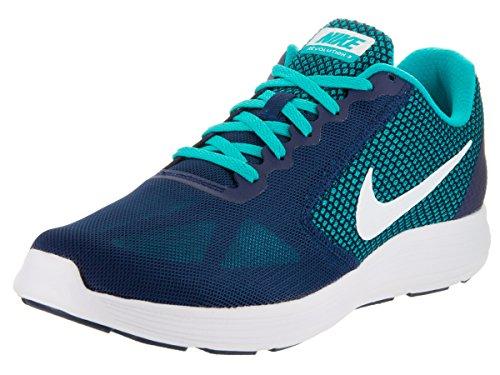 Nike Men's Revolution 3 Blk/Medblu-Gry Running Shoes-10 UK/India...