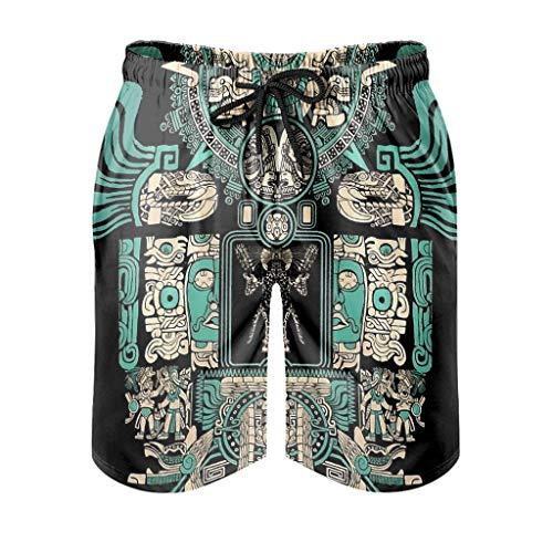 Ouniaodao Mens Tigre - Warrior Short Pants Sport - Pantalones cortos
