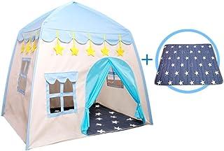 Glzcyoo barn-lektält burg stor toffel för barn med matta bärbar lekstuga barnhus Fort Indoor Outdoor användning med bärväs...