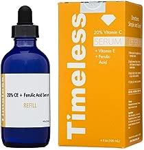 TIMELESS 20% Vitamin C + E FERULIC ACID SERUM XL REFILL 4 OZ