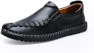 [aemax] スリッポン ローファー モカシン ドライビング 革靴 メンズ ビジネスシューズ 紳士靴 カジュアルシューズ メンズシューズ オールシーズン 軽量 クッション性 就活 通勤