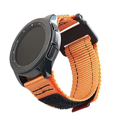 URBAN ARMOR GEAR UAG Compatible with Samsung Galaxy Watch 46mm/Galaxy Watch3 45mm/Gear S3 Frontier & Classic, fits Most 22mm Watch Lugs, Slim Sporty Nylon Replacement Watch Strap, Active Orange