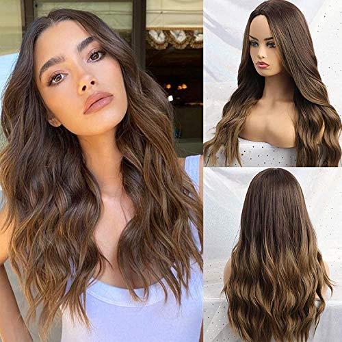 haz tu compra pelucas onduladas largas para mujer on-line
