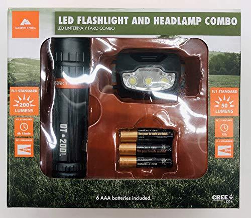 Ozark Trail LED Flashlight and Headlamp Combo