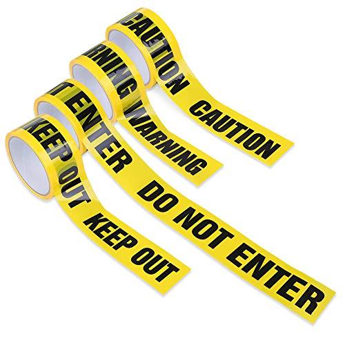 Lack labo 標識テープ 警告テープ 4本セット OPP 幅4.8cm × 長さ25m KEEP OUT CAUTION WARNING DO NOT ENTER 4本セット