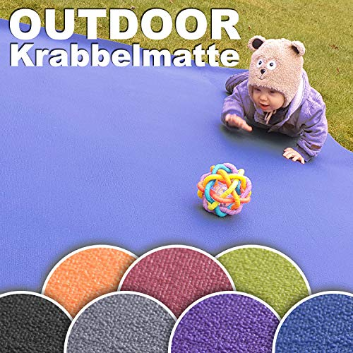 Wunschkind Outdoor Krabbelmatte | Krabbelunterlage | Made in Germany | Anti-Rutsch | Öko-Tex 100 120x120 cm Grau