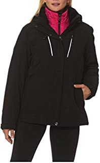 Ladies 3-in-1 Systems Jacket Black/Pink; XX-Large