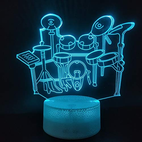 Instrumentbaby-Wohnzimmerdekorationstrommel-Fassfarbänderndes Atmosphärennachtlicht der Lampe modernes
