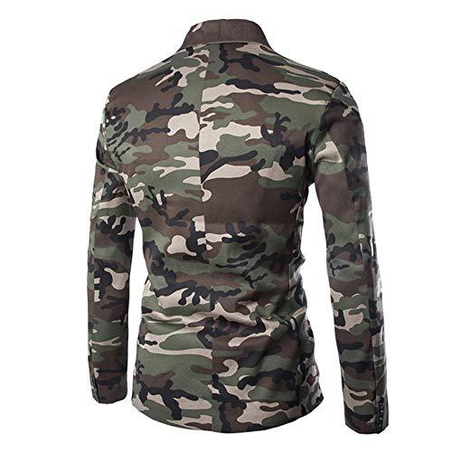 URSING Anzugjacken für Herren Camouflage Jacke Slim Fit Sakkos für Männer Freizeit Blazer Jacke Herbst Winter Cardigan Trenchcoat Langarm Mantel Top