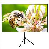 プロジェクタースクリーン60型4K解像度改良新版三脚式&壁掛け式 屋内屋外兼用 16:9 視野角160°