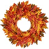 26' Fall Wreath for Front-Door-Decor Storage Box Included- Handcrafted Boxwood Base- Ideal for Autumn& Halloween& Thanksgiving Day