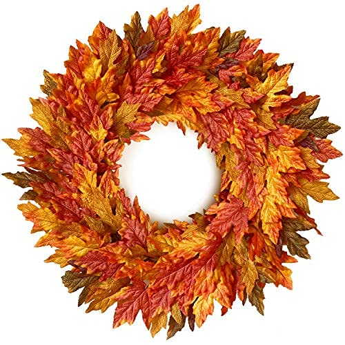 handcrafted fall wreath for front door