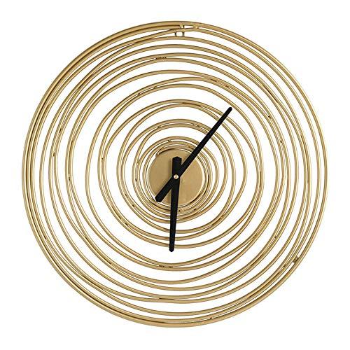 Reloj de Pared de Hierro Vintage Reloj Colgante Geométrico de Diseño Moderno Grande para La decoración del Hogar de La Sala de Estar de La Oficina