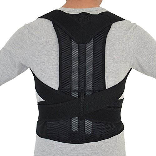 Aofit B003 Adjustable Double Pull Shoulder Back Support Belt Steel...