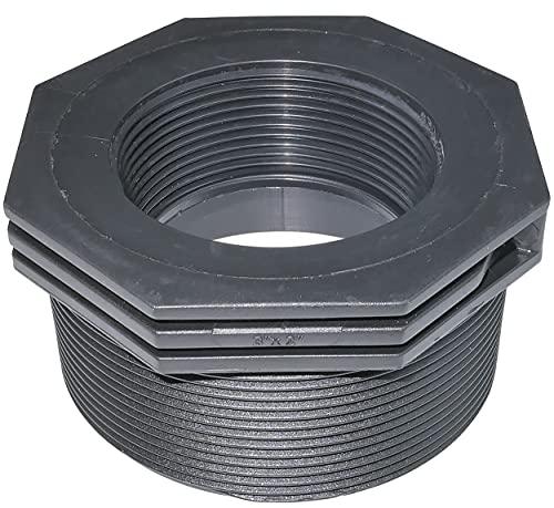 AERZETIX - C51858 - Reductor de plástico Macho/Hembra 3''x2'' con Tope Interior para atornillar - pezón reducido Macho/Hembra para atornillar 10 Bares