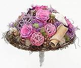 Flora Trans Getrockneter Blumenstrauß -Langlebige Harmonie- 5 gefriergetrocknete Rosen
