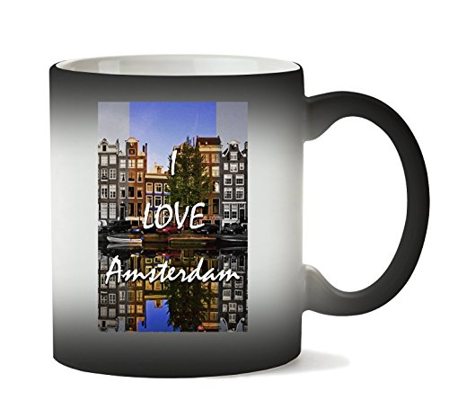 C+P I Amsterdam | Series | Popular Words | Osom Quotes | Cool T-shirt | Nice to | Super | Yolo Swag | Beautiful Landscape Cup hitte kleurverandering