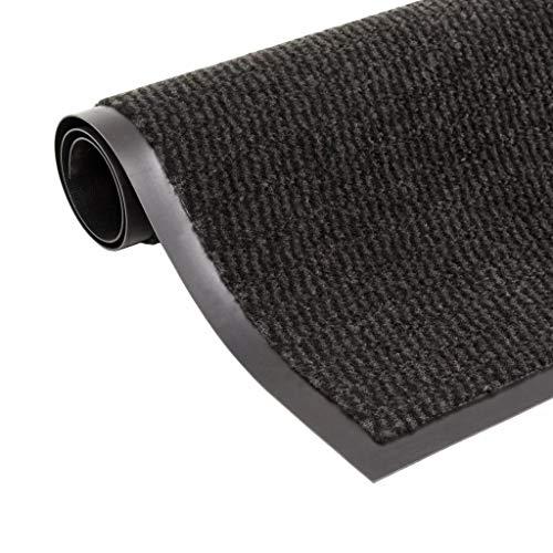 Geniet van winkelen met Droogloopmat rechthoekig getuft 90x150 cm zwart