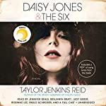Daisy Jones & The Six     A Novel              Written by:                                                                                                                                 Taylor Jenkins Reid                               Narrated by:                                                                                                                                 Jennifer Beals,                                                                                        Benjamin Bratt,                                                                                        Judy Greer,                   and others                 Length: 9 hrs and 3 mins     213 ratings     Overall 4.6