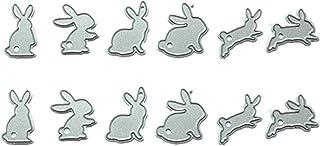 6Pcs Easter Egg and Rabbit Metal Cutting Dies For DIY Scrapbook Album Paper  QE