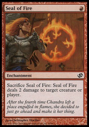 Magic The Gathering - Seal of Fire - Duel Decks: Jace vs Chandra