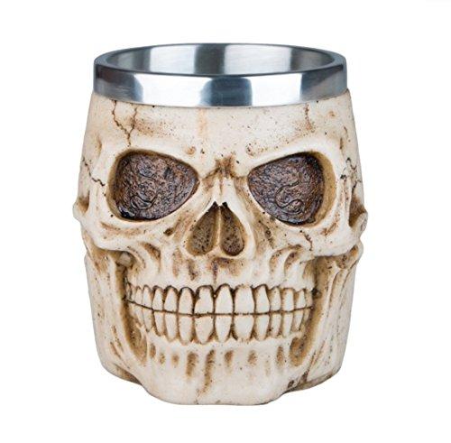 DingSheng 3D-Kaffeetasse mit Totenkopf-Motiv, toll für Kaffee, Tee, Flasche, Becher, Trinkbecher, edelstahl Kunstharz, 005