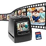 Mini Escáner digital de películas y diapositivas, todo en uno,5/10 mp Escáner película y escáner diapositivos,convierte las diapositivas 35 mm y 135 mm en fotos digitales,pantalla LCD 2,4 pulgadas