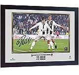SGH SERVICES Gerahmter Fotodruck Cristiano Ronaldo Juventus