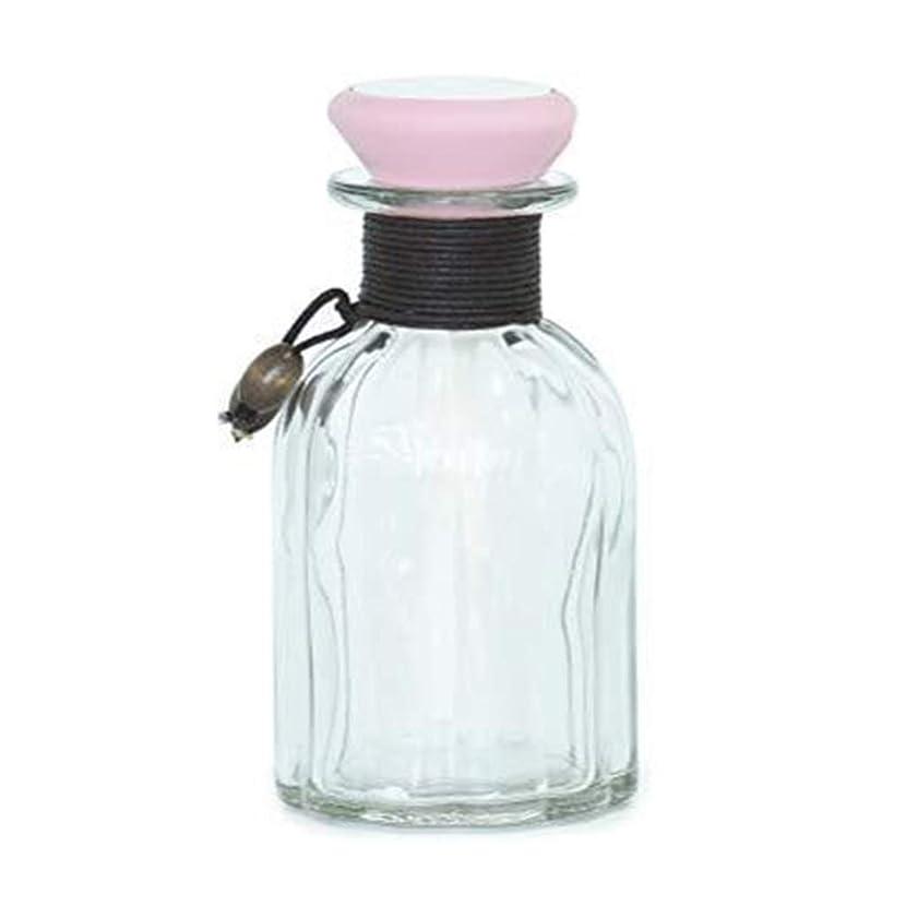 品種強度出席するガラス瓶加湿器、ミニUSB加湿器エッセンシャルオイルアロマディフューザーオフィスデスクトップ寝室ビジネスギフト (Color : Pink)