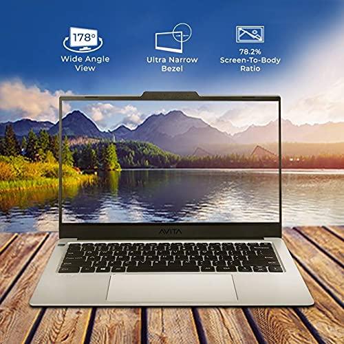 Avita LIBER V NS14A8INF542-CS Thin and Light 14 inch (35.56cm) Laptop( Intel UHD Graphics 620/ 8GB/256GB SSD /Win 10 Home/ Backlit Keyboard/ Fingerprint Sensor/ MSO 365) 1.28kg, Cloud Silver