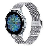 trumirr compatibile con samsung galaxy watch active2/galaxy watch active cinturino, 20mm bracelet montre en acier inoxydable tissé per samsung galaxy watch active/galaxy watch active2 40mm 44mm
