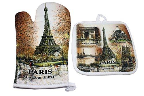 Gant et Manique De Cuisine - Collection Souvenirs de PARIS brun