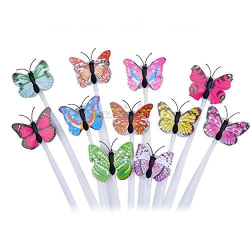 Evmho Schmetterlings-Haarnadel, leuchtende Perücke, LED-Beleuchtung, Faseroptik, Zopf