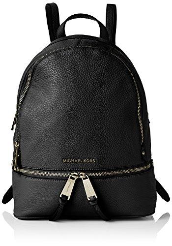Michael Kors Rhea Zip, Bolso mochila para Mujer, Negro (Black), 25.4x29.9x11.4 cm (W x H x L)