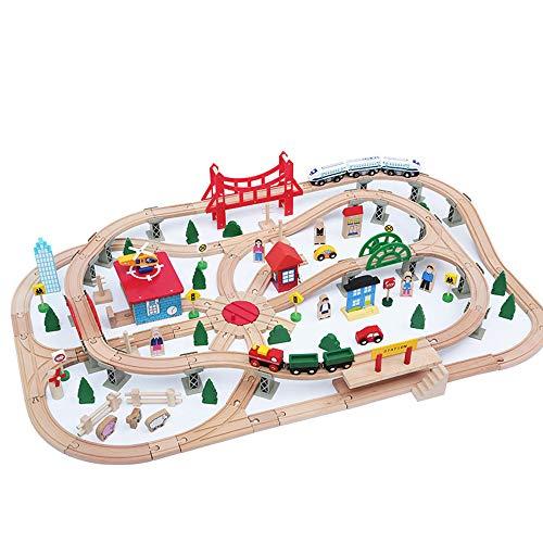 HOUSEHOLD Juguetes de pista de tren montados, simulación a gran escala de estacionamiento, juguetes educativos interactivos para padres e hijos, seguros y no se decoloran fácilmente.