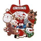 NUOBESTY Marco de Fotos de Navidad Decoraciones de Fiesta Lindas de Resina Marco de Fotos de...