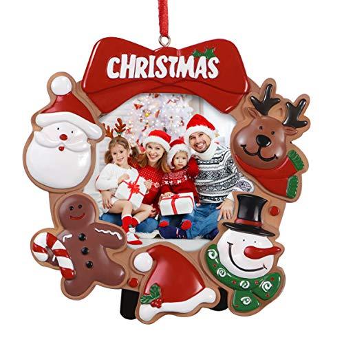 NUOBESTY Marco de Fotos de Navidad Decoraciones de Fiesta Lindas de Resina Marco de Fotos de Escritorio de árbol...