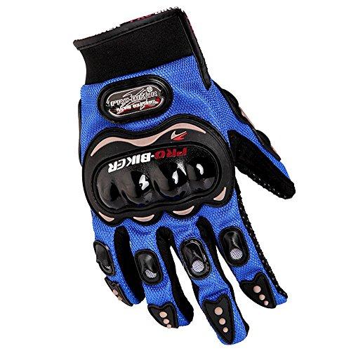 Docooler1 Pair Ergonomic Design Anti Slip 3D Hard Shell Protective Gear Motorcycle Sport Racing Bike Bicycle Riding Cycling Gloves (Blue, XXL)