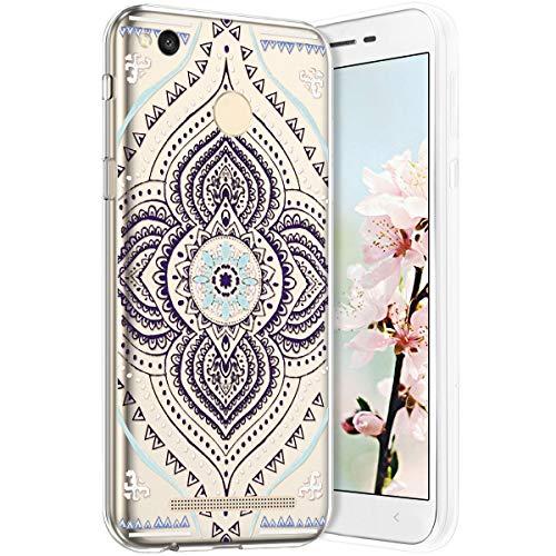 Compatible avec Xiaomi Redmi 3S Coque en Silicone Transparente Motif Mandala Fleur Jolie Housse de téléphone Gel TPU Souple Ultra Mince Crystal Clear Skin Étui Coque pour Xiaomi Redmi 3S,11#