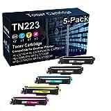 Paquete de 5 cartuchos de impresora láser TN243 TN-243 TN223 (TN223BK TN223C TN223Y TN223M) para impresora Brother HL-L3210CW HL-L3210CW HL-L3270CDW MFC-L3710CW