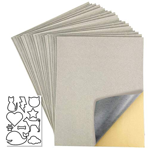 20 Pcs Self Adhesive Velvet Flocking Liner Sheet for Jewelry Drawer, Self-Adhesive Flannel for Storage Box Lining,Size: 8.8X11.8 Inches (Light Gray)