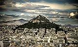 WOMNSDN Puzle de Acrópolis con Partenon en Atenas, 1000 piezas, juego de desafío, descompresión de adultos