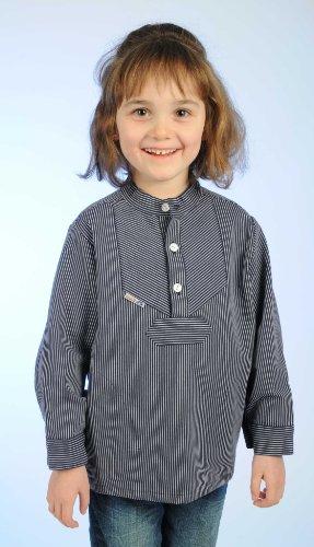 modAS Fischerhemd für Kinder schmal gestreift Basic Größe 92
