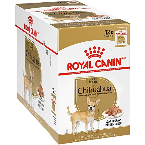 Royal Canin Breed Health Nutrition Chihuahua Loaf in Gravy Pouch Dog Food, 3 oz Pouch (Pack of 12)