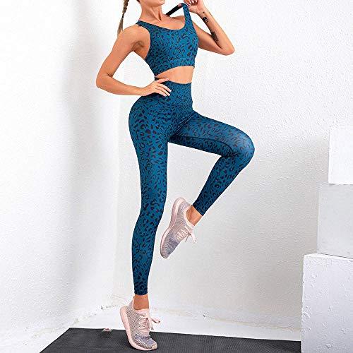 FAYHRH Mallas Fitness Push Up Pantalones Deporte,Ropa de Yoga Estampada de Primavera y Verano, Deportes y Fitness de Secado rápido, Sexy-L
