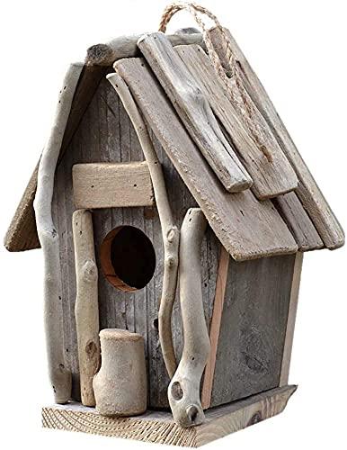Comederos Pajaros Garden Bird Houses Garden Bird House Decoración creativa al aire libre Alimentador de Pájaro Alimental Alimental Patio Patio Jardín Villa Alimentación Pastoral Estilo Handicraft ZSMF